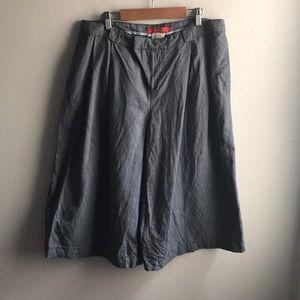 Cartonnier blue pinstripe wide leg culottes shorts